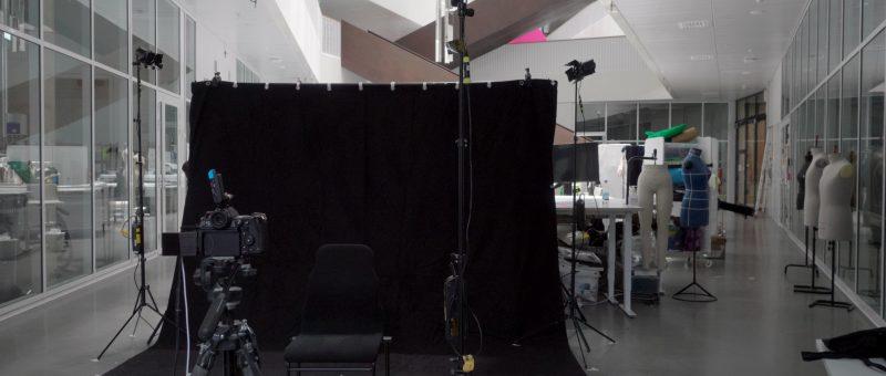 empty studio set-up